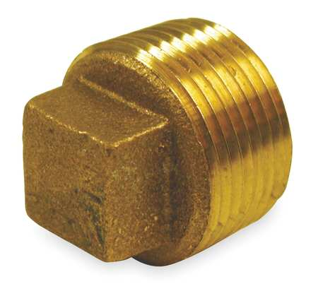 "3"" MNPT Red Brass Cored Plug"