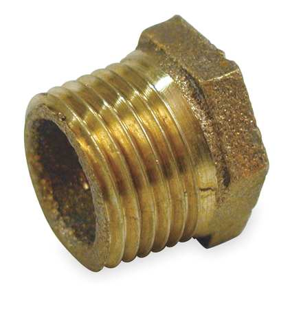 "3/4"" MNPT x 1/2"" FNPT Red Brass Hex Bushing"