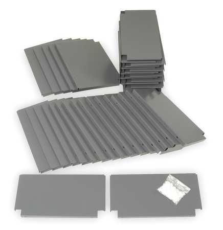 "Steel Shelving Divider Kit ,  18""L"