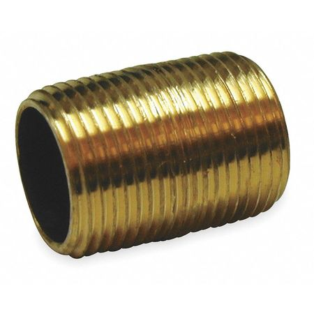 "1/2"" MNPT Threaded Red Brass Close Pipe Nipple"