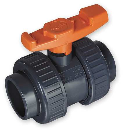 "3"" Socket PVC Ball Valve Inline True Union"