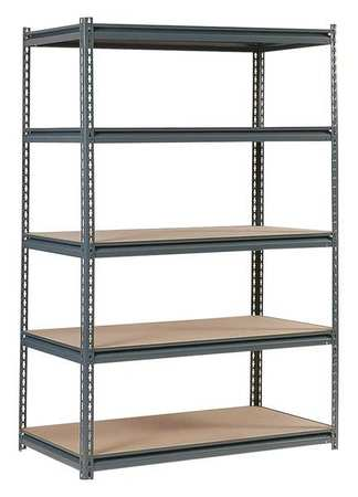 Boltless Shelving, 48x24x72, 5 Shelf