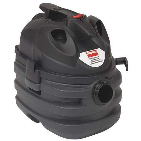Wet/Dry Vacuum, Air Flow 140 cfm, 6 HP