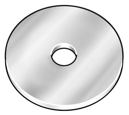 "3/8"" x 2"" OD Plain Finish 18-8 Stainless Steel Large OD Thick Fender Washers,  1 pk."