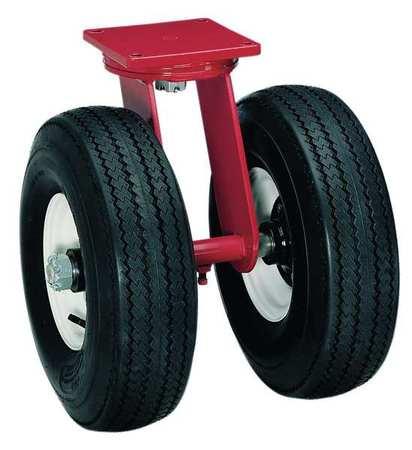 Dual Wheel Swivl Pneumatic Castrs, 16 in.