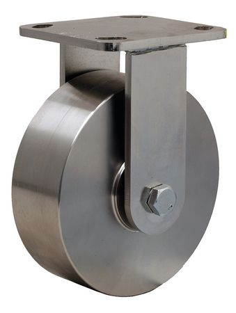 Plte Caster, Rgd, SS, 6 in., 1200 lb.