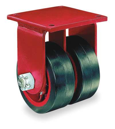 Dual Whel Caster, Rubber, 8 in., 1000 lb.
