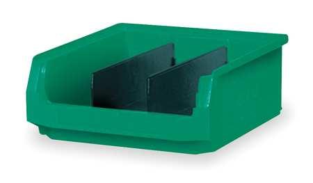 Bin, 19-3/4 In. L, 12-3/8 In. W, Green