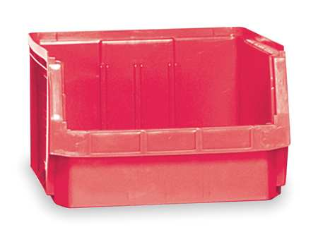 Bin, 19-3/4 In. L, 18-3/8 In. W, Red