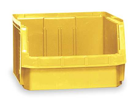 Bin, 19-3/4 In. L, 18-3/8 In. W, Yellow