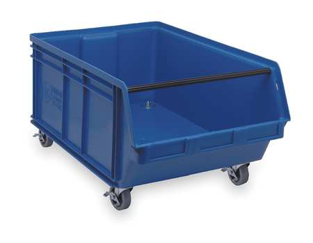 Mobile Bin, 29 In. L, 18-3/8 In. W, Blue