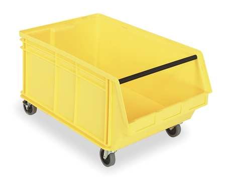 Mobile Bin, 29 In. L, 18-3/8 In. W, Yellow