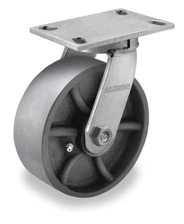 Kingpinless Swivel Caster, 3500 lb, 7-1/2 in H