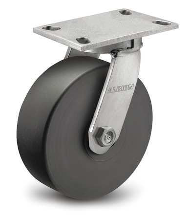 Kingpinless Swivel Caster, 4100 lb, 2-1/2 in W