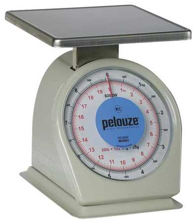 Washable Dial Scale, Mechanical, 9kg/20 lb