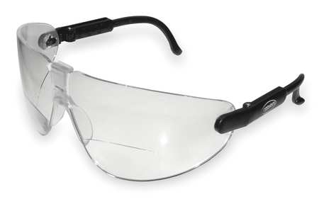 Bifocal Safety Read Glasses, +2.50, Clear