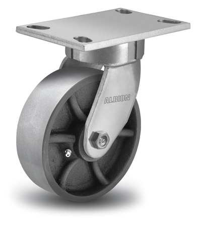 Kingpinless Swivel Caster, Ductile Iron, 5in, 1400lb