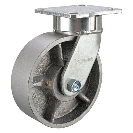 Kingpinless Swivel Caster, Ductile Iron, 10in, 4100lb