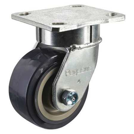Kingpinless Swivel Caster, 600 lb, Gray