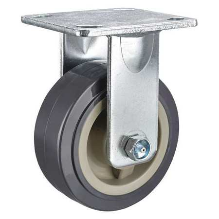 Kingpinless Rgd Caster, Poly, 5 in, 750 lb.