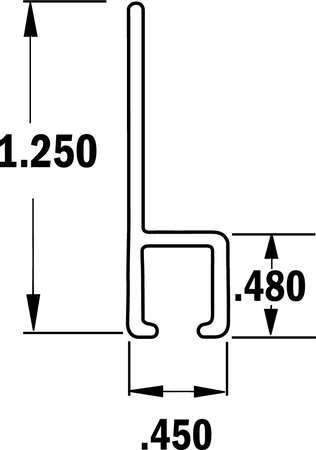 Strip Brush Holder, Overall Length 72 In