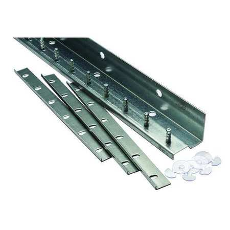 Save-T-Loc Strip Door Hardware, 5ft, Alum