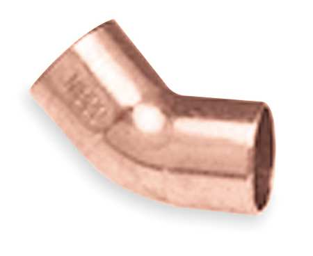 "1/8"" NOM C Copper 45 Degree Elbow"
