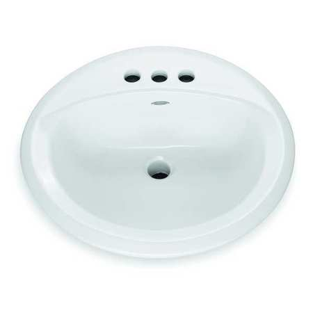 Bathroom Sink, Counter Top, 19-1/8 In. L