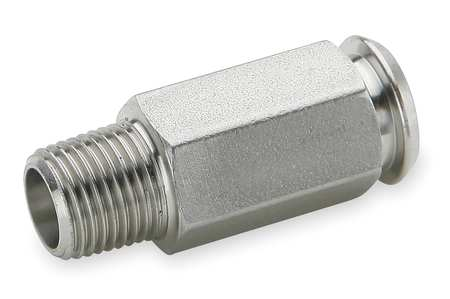 "1/4"" x 1"" Compression SS Inline Coupler"