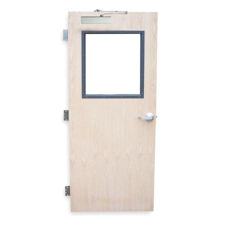 Security Door, Type CE, Red Oak Veneer
