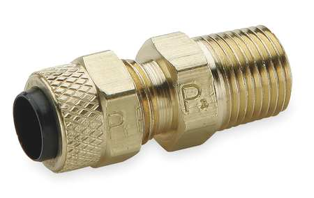 "5/16"" Compression x 1/8"" MNPT Brass Connector 10PK"
