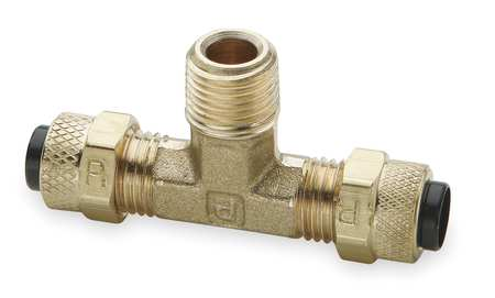 "3/8"" Compression Brass Male Branch Tee 10PK"