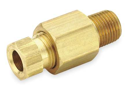 "3/8"" Compression x 1/4"" MNPT Brass Connector 10PK"