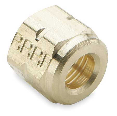"3/8"" Compression Brass Nut 10PK"