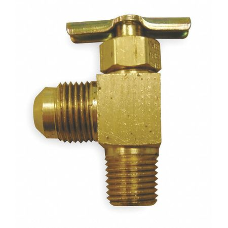 Needle Valve, Angled, Brass, 1/4 x 3/8 In.