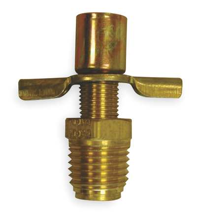 Drain Cock, Brass, MNPT, 1/4 In
