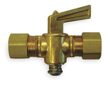 Ground Plug Valve, 1/4 In, 30 PSI, Brass