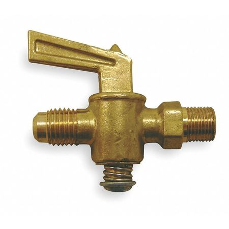 Ground Plug Valve, 45 Deg, 1/8 In, Brass