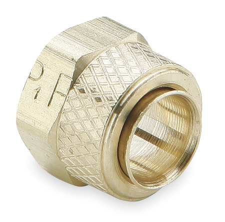 "1/4"" Tube Brass Compression Nut & Sleeve 10PK"