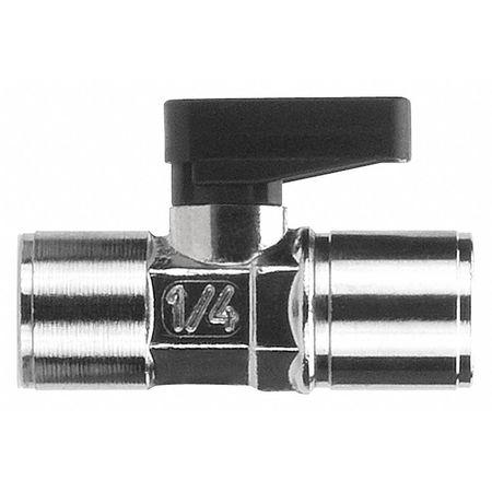 """1/8"""" FNPT Nickel Brass Mini Ball Valve Inline"""