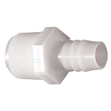 Male Adapter, 1/4 x 1/8 In, Nylon, PK10