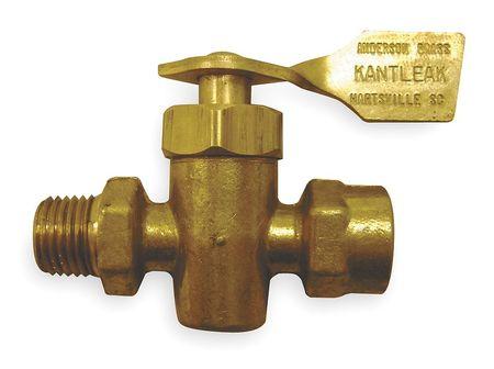 Marine Ground Plug Valve, 1/4 In, Brass