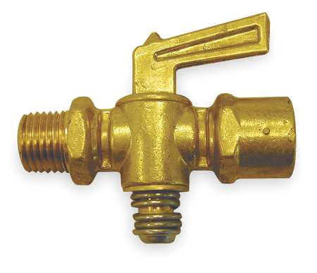 Ground Plug Valve, 1/8 In, 30 PSI, Brass