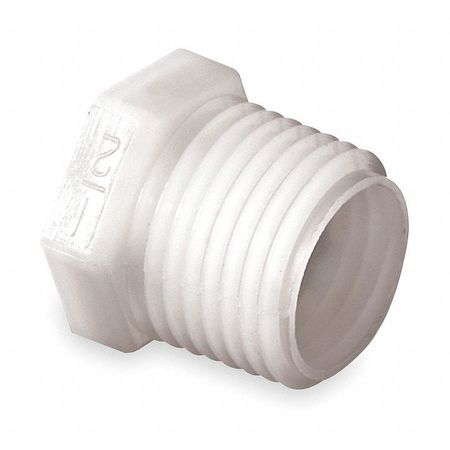Plug, 1 In NPT, Nylon, 150 PSI, PK10