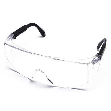 Condor Clear Safety Glasses,  OTG,  Wraparound