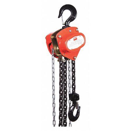 Manual Chain Hoist, 4000 lb., Lift 10 ft.