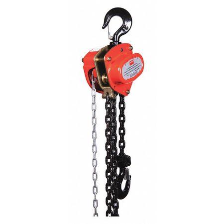 Manual Chain Hoist, 4000 lb., Lift 15 ft.