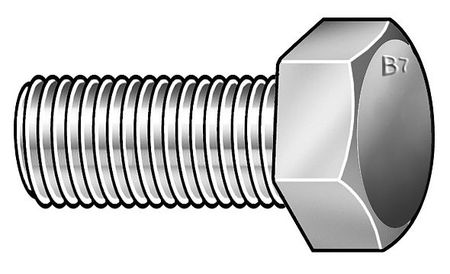 "7/8""-9 x 2-3/4"" Grade B7 Heavy UNC (Coarse) Hex Bolt,  5 pk."