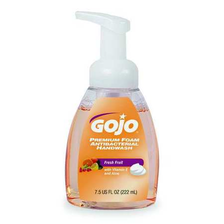 GOJO Antibacterial Soap, Foam, 7.5 oz., PK6