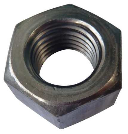 "5/16""-18 Grade A Plain Finish Carbon Steel Heavy Hex Nuts,  100 pk."
